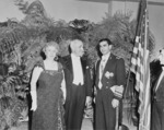Bess Truman, US President Harry Truman, and Shah of Iran Mohammad Reza Pahlavi in the United States, 18 Nov 1949