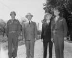 Harry Truman and James Byrnes with Brigadier General A. G. Rolling at Heppenheim, Germany, 26 Jul 1945