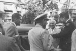 US President Harry Truman arriving at Marine Corps League Convention to apologize for calling USMC