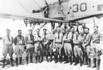 Commander Richmond Turner (center) with other aviators at Naval Air Station, Pensacola, Florida, United States, 1927
