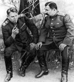 Aleksandr Vasilevsky and Semyon Budyonny in the Donbass region of eastern Ukraine, 1943