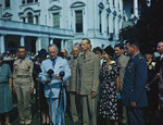 Wainwright decorated with Medal of Honor by US President Truman 14 Sep 1945, photo 2 of 2