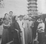 Wang Jingwei with others in Hangzhou, China, Sep 1924