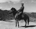 General Wei Lihuang on a horse, Burma, 1943-1944