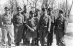 German SS officer Josef Dietrich with officers of the Leibstandarte SS Adolf Hitler, Russia, 21 Mar 1942