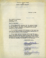 Letter to US Secretary of War Robert Patterson to request clemency for Yamashita, 5 Feb 1946