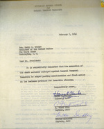 Letter to US President Harry Truman to request clemency for Yamashita, 5 Feb 1946