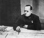 Georgi Zhukov studying a map, Oct 1941