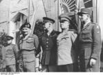 Bernard Montgomery, Dwight Eisenhower, Georgi Zhukov, and Jean de Lattre de Tassigny in Berlin, Germany, 5 Jun 1945