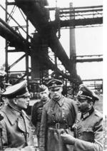 Colonel General Paul von Kleist visiting a recently captured steelworks  in Ukraine, Nov 1941