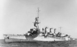 Port side view of HMAS Adelaide, circa 1940s