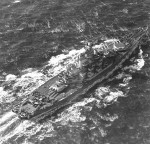 Aerial view of USS Alabama in the Atlantic Ocean, 4 Mar 1943
