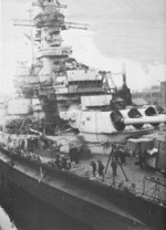 USS Alabama in Puget Sound Naval Shipyard, Bremerton, Washington, United States, Feb 1945, photo 3 of 4