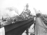 USS Alabama in Puget Sound Naval Shipyard, Bremerton, Washington, United States, Feb 1945, photo 4 of 4