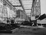 Battleship Alabama under construction, Norfolk Naval Shipyard, Portsmouth, Virginia, United States, 1941-1942