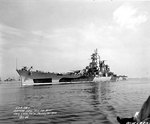 Alaska off the Philadelphia Navy Yard, 30 Jul 1944, photo 2 of 2