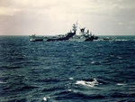 Alaska during shakedown, off the US east coast, Aug 1944