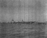 USS Anzio at anchor in the Huangpu River, Shanghai, China, Dec 1945
