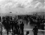 Line crossing ceremony aboard USS Coral Sea, 15 Nov 1943