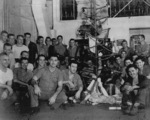 Christmas holiday party aboard USS Anzio, 25 Dec 1944