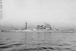 Japanese heavy cruiser Atago at the Yokosuka Naval Base, Japan, 30 Nov 1939