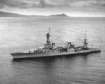 Augusta off Honolulu, Oahu, Hawaii, 21 Jul 1933