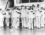 Adm Thomas Hart relieved Harry Yarnell aboard Augusta, off Shanghai, China, 25 Jul 1939
