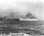 HMAS Australia off New York City, circa 1932-33
