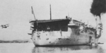 Stern of French carrier Béarn, 1938