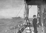 French carrier Béarn viewed from another warship, date unknown