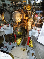 Forward torpedo room of museum ship Becuna, Philadelphia, Pennsylvania, United States, 22 Oct 2011