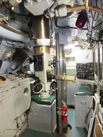 Interior of the conning tower of museum ship Becuna, Philadelphia, Pennsylvania, United States, 22 Oct 2011