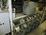Forward engine room of museum ship Becuna, Philadelphia, Pennsylvania, United States, 22 Oct 2011