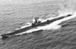 USS Becuna underway, Oct 1949