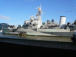 HMS Belfast on display as a museum ship, London, England, United Kingdom, Oct 2010, photo 1 of 2