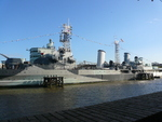 HMS Belfast on display as a museum ship, London, England, United Kingdom, Oct 2010, photo 2 of 2