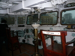 Interior of the bridge of museum ship HMS Belfast, London, England, United Kingdom, Oct 2010