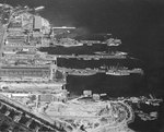 Puget Sound Navy Yard, Bremerton, Washington, United States, 25 Jul 1941, photo 4 of 4; note AVPs Barnegat, Biscayne, Casco, Mackinac, BB Colorado, AG Utah, AK Aroostook, and AR Prometheus