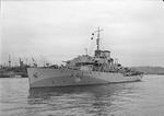 Corvette HMS Bluebell underway on the River Tyne, England, United Kingdom, 24 Jun 1942