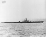 Starboard side view of USS Boarfish off Mare Island Navy Yard, Vallejo, California, United States, 9 Aug 1946