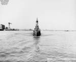 USS Caiman departing Mare Island Naval Shipyard, California, United States, 25 Sep 1951, photo 1 of 2