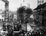Launch of USS California at Mare Island Navy Yard, 20 Nov 1919