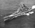 USS Canberra underway during the Cuban Missile Crisis, 28 Oct 1962