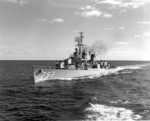 USS Cassin Young underway off Block Island, Rhode Island, United States, 4 Oct 1958