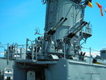 Quadruple 40mm Bofors anti-aircraft mount aboard museum ship USS Cassin Young, Boston, Massachusetts, United States, 4 Jul 2010, photo 1 of 2