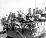 Recommissioning ceremony of USS Cassin Young, Long Beach Naval Shipyard, California, United States, 8 Sep 1951