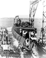Launching of submarine Cero, Groton, Connecticut, United States, 4 Apr 1943