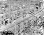 Submarines Bonefish, Cod, Cero, and Corvina under construction at the Electric Boat Co. yard, Groton, Connecticut, United States, 7 Mar 1943