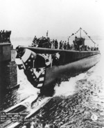Launching of submarine Dorado, Groton, Connecticut, United States, 23 May 1943
