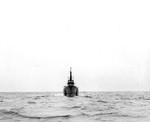 Bow view of submarine Dorado, off New England, United States, Aug 1943